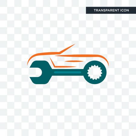 auto body repair vector icon isolated on transparent background, auto body repair logo concept Vettoriali
