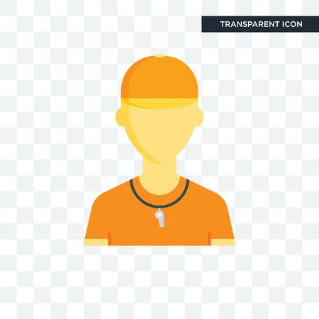 Icono de vector de entrenador aislado sobre fondo transparente, concepto de logo de entrenador