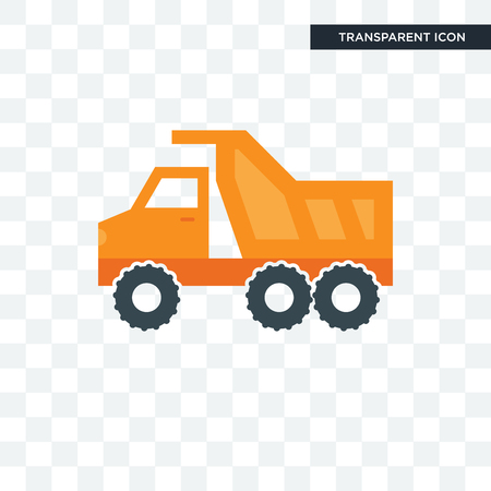 tipper vector icon isolated on transparent background, tipper logo concept
