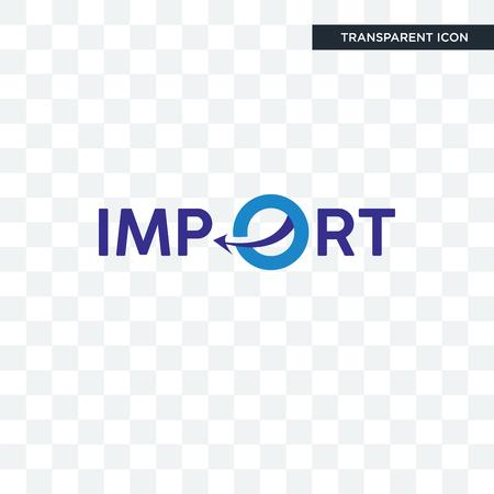Icono de vector de importación aislado sobre fondo transparente, concepto de logotipo de importación