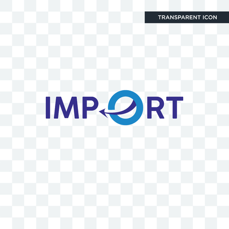 import vector icon isolated on transparent background, import logo concept