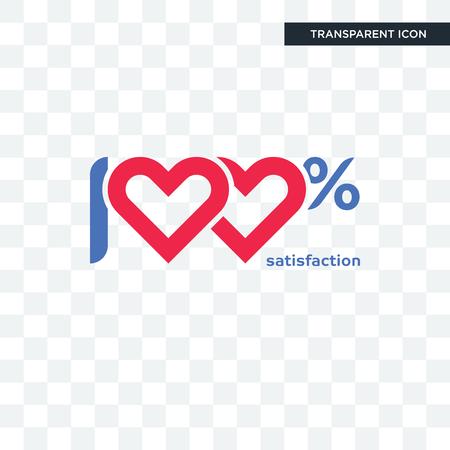 100 satisfaction vector icon isolated on transparent background, 100 satisfaction logo concept Ilustração