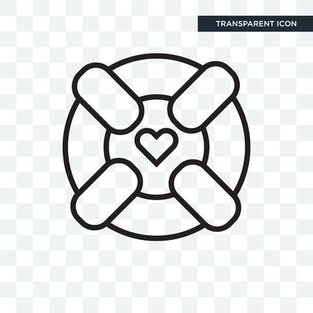 Lifebuoy vector icon isolated on transparent background, Lifebuoy logo concept