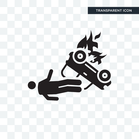 Accident vector icon isolated on transparent background, Accident logo concept Imagens - 108199039