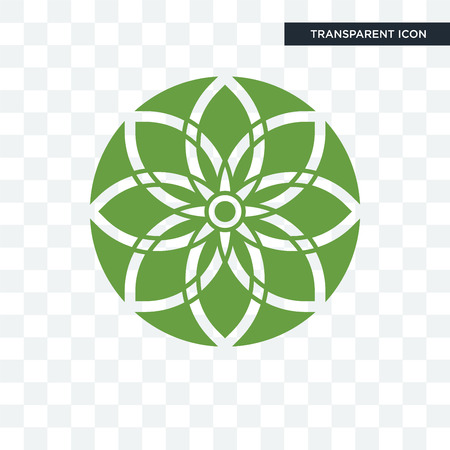 jasmine vector icon isolated on transparent background, jasmine logo concept Иллюстрация