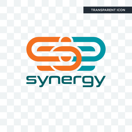 synergy vector icon isolated on transparent background, synergy logo concept Logo