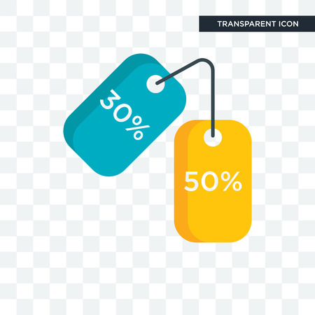 Discounts vector icon isolated on transparent background, Discounts logo concept