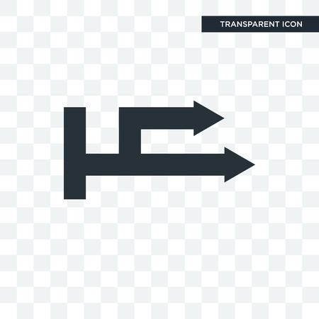Right arrow vector icon isolated on transparent background, Right arrow logo concept