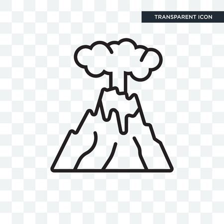 Eruption vector icon isolated on transparent background, Eruption logo concept Banque d'images - 108199471
