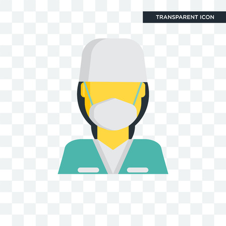 Surgeon vector icon isolated on transparent background, Surgeon logo concept