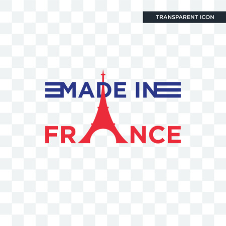 made in france vector icon isolated on transparent background, made in france logo concept