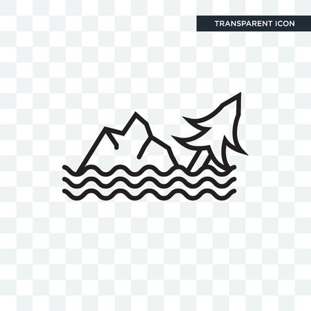 Flood vector icon isolated on transparent background, Flood logo concept