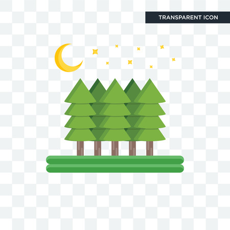 Forest vector icon isolated on transparent background, Forest logo concept