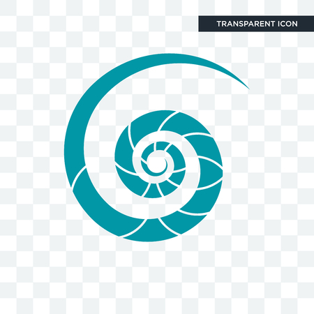 nautilus shell vector icon isolated on transparent background, nautilus shell logo concept