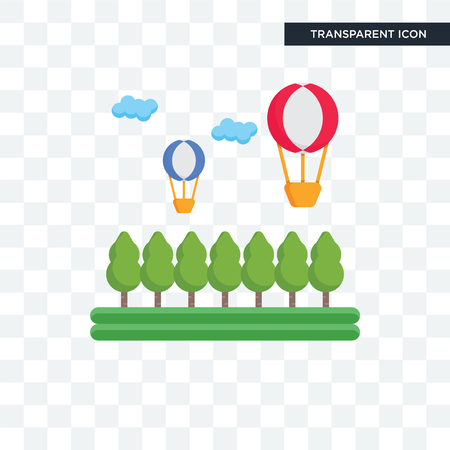 Hot air balloon vector icon isolated on transparent background, Hot air balloon logo concept
