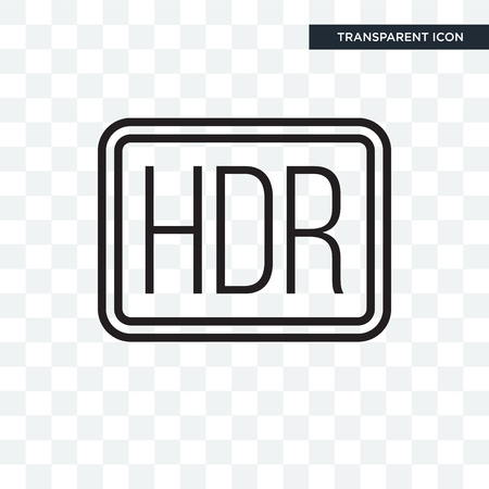 Hdr vector icon isolated on transparent background, Hdr logo concept