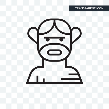 Troglodyte vector icon isolated on transparent background, Troglodyte logo concept