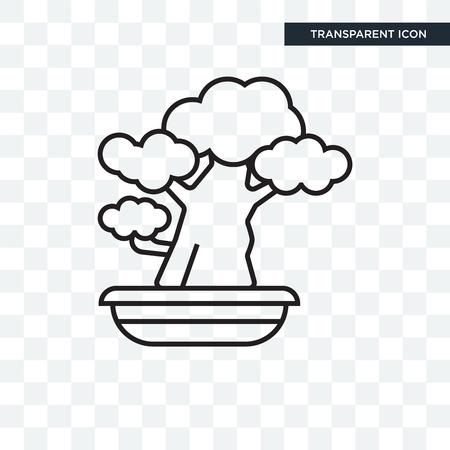 Bonsai vector icon isolated on transparent background, Bonsai logo concept Logo