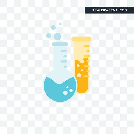 Chemistry vector icon isolated on transparent background, Chemistry logo concept Logo