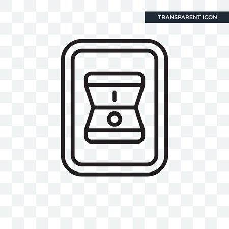 Switch vector icon isolated on transparent background, Switch logo concept Stock Illustratie