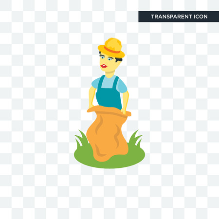 Sack race vector icon isolated on transparent background, Sack race logo concept