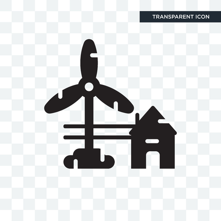 Eolic energy vector icon isolated on transparent background, Eolic energy logo concept