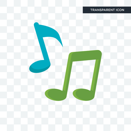 Music vector icon isolated on transparent background, Music logo concept