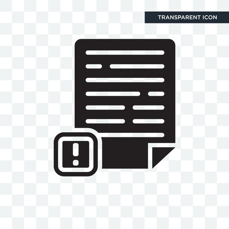 Icône vecteur de réclamation isolé sur fond transparent, concept logo réclamation