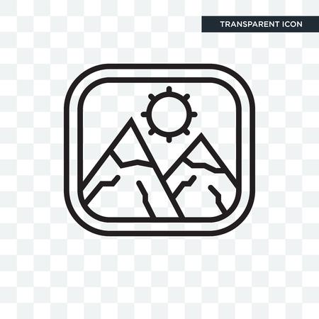 Photo vector icon isolated on transparent background, Photo logo concept Foto de archivo - 108272312