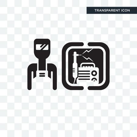 Welder vector icon isolated on transparent background, Welder logo concept Vectores