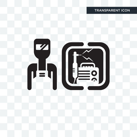 Welder vector icon isolated on transparent background, Welder logo concept Illusztráció