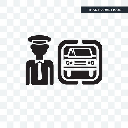 Chauffeur vector icon isolated on transparent background, Chauffeur logo concept