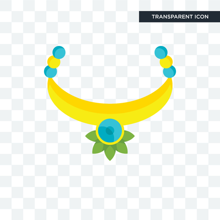 Necklace vector icon isolated on transparent background, Necklace logo concept