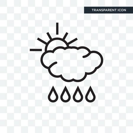Rain vector icon isolated on transparent background, Rain logo concept