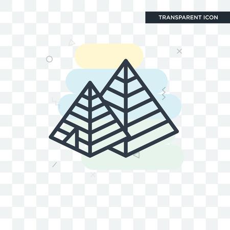 Icône de vecteur de pyramide isolé sur fond transparent, concept logo pyramide