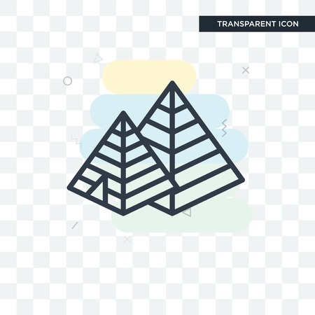 Pyramid vector icon isolated on transparent background, Pyramid logo concept