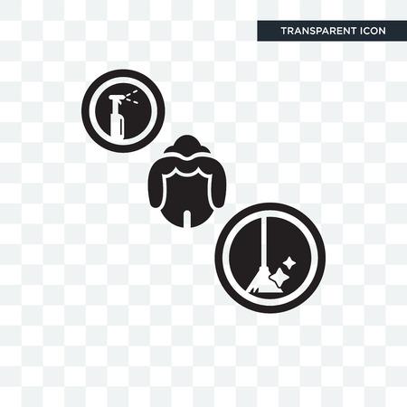 Icône de vecteur de femme de chambre isolé sur fond transparent, concept logo femme de chambre Logo