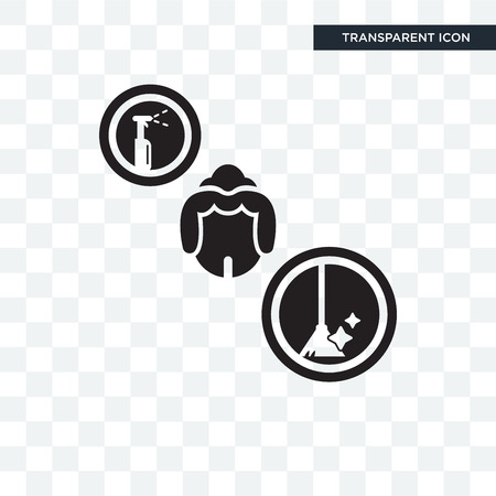 Icona di vettore di cameriera isolato su sfondo trasparente, concetto di marchio di cameriera Vettoriali