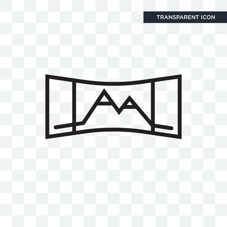 Panorama vector icon isolated on transparent background, Panorama logo concept