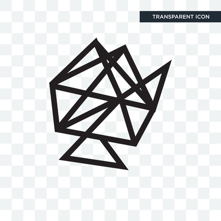 Interlinked web vector icon isolated on transparent background, Interlinked web logo concept  イラスト・ベクター素材