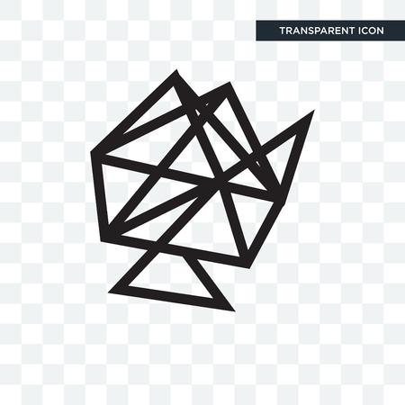 Interlinked web vector icon isolated on transparent background, Interlinked web logo concept Ilustração