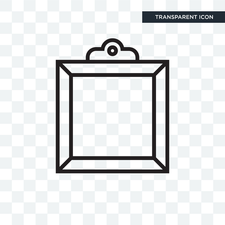 Frame vector icon isolated on transparent background, Frame logo concept Vettoriali