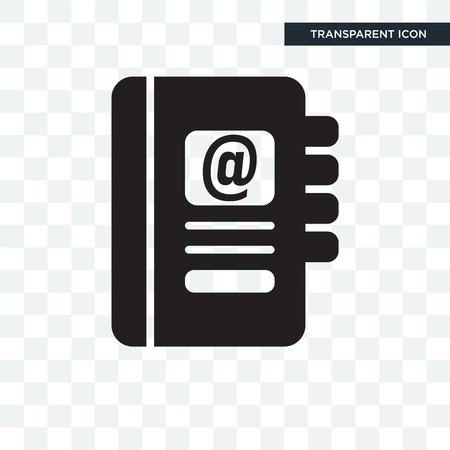 Icono de vector de agenda aislado sobre fondo transparente, concepto de logo de agenda