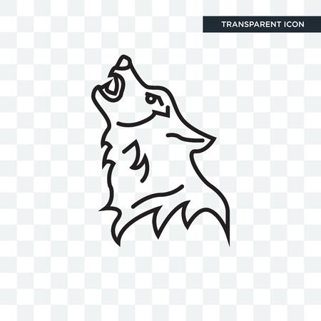 Wolf vector pictogram geïsoleerd op transparante achtergrond, Wolf logo concept