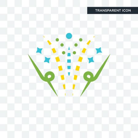 Icono de vector de fuegos artificiales aislado sobre fondo transparente, concepto de logo de fuegos artificiales