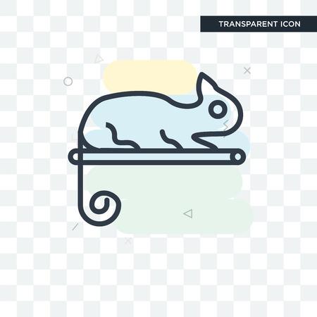 Chameleon vector icon isolated on transparent background, Chameleon logo concept 向量圖像