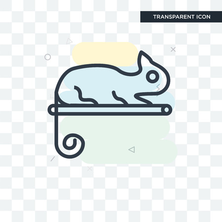 Chameleon vector icon isolated on transparent background, Chameleon logo concept Illustration