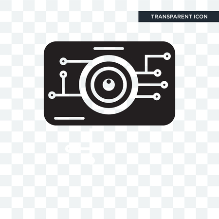 Eye scan vector icon isolated on transparent background, Eye scan logo concept
