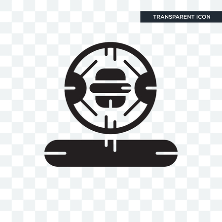 Cooker vector icon isolated on transparent background, Cooker logo concept 矢量图像