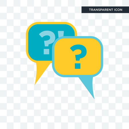 Questions vector icon isolated on transparent background, Questions logo concept